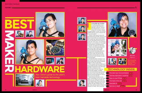 Hackspace magazine hardware feature spread