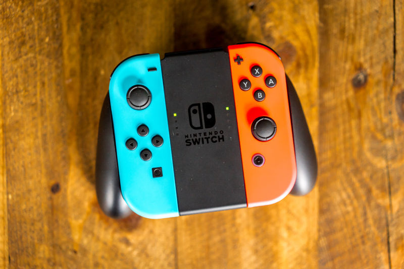 The bundle includes the neon red and neon blue Joy-Cons.
