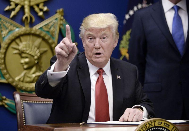 President Donald Trump, as seen on January 27, 2017 in Arlington, Virginia.