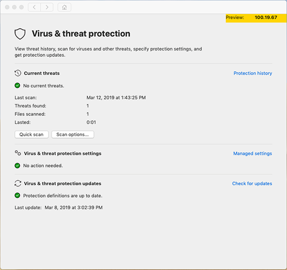 Microsoft Defender ATP for Mac will initially focus on traditional signature-based malware scanning.