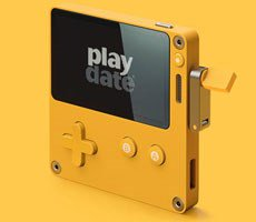 Panic's Playdate Gaming Handheld Sports A Crank, Black And White Screen, 12 Indie Games
