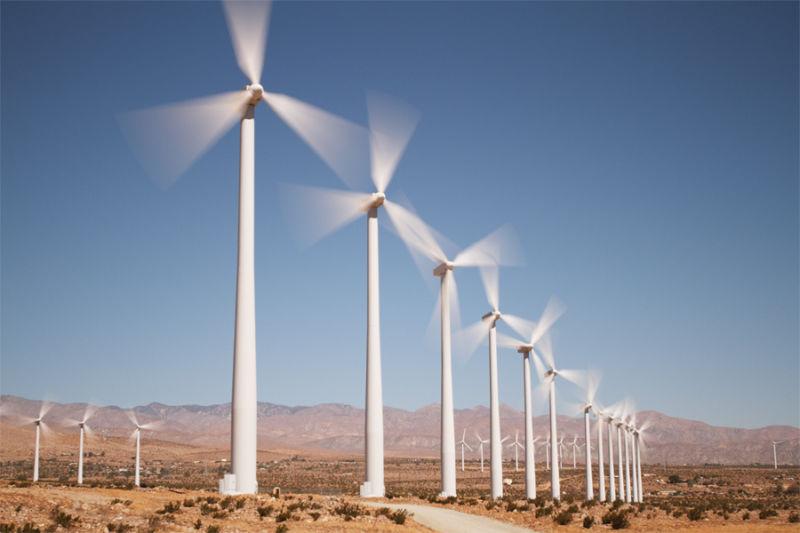 Wind turbines near Palm Springs, Calif.