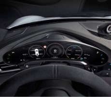 Porsche Teases Taycan EV's Futuristic Interior Fully Decked Out With Multiple Displays