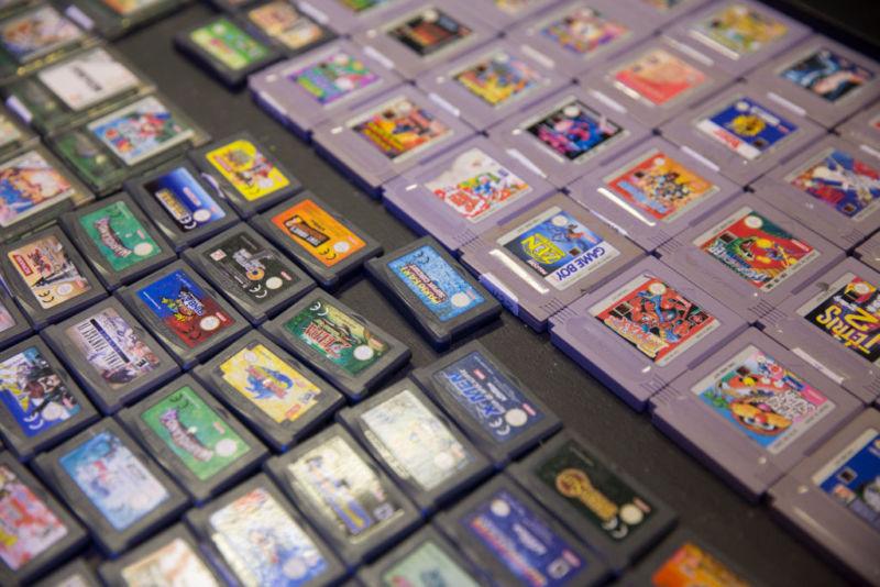 Console game cartridges at RAGE, Record Art Game Emporium, on April 4, 2017, in Dublin, Republic of Ireland. (photo by Sam Mellish / In Pictures via Getty Images Images)