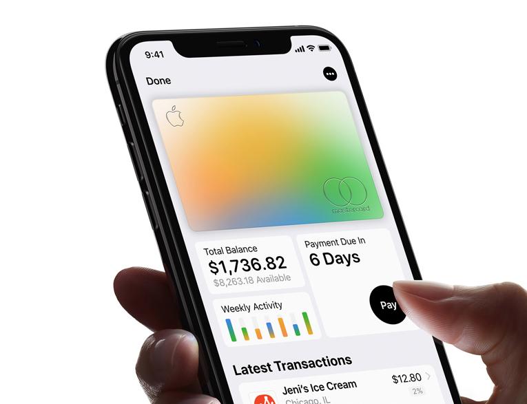 Apple Card dashboard