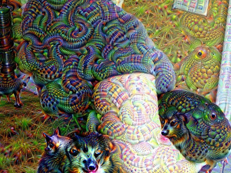 Machine learning is really good at turning pictures of normal things into pictures of eldritch horrors.