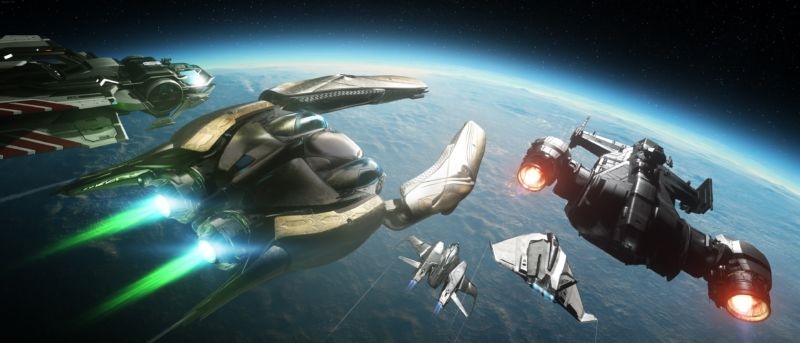 Screenshot from the video game Star Citizen.