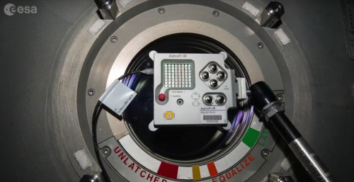 One of the Astro Pi computers aboard the International Space Station