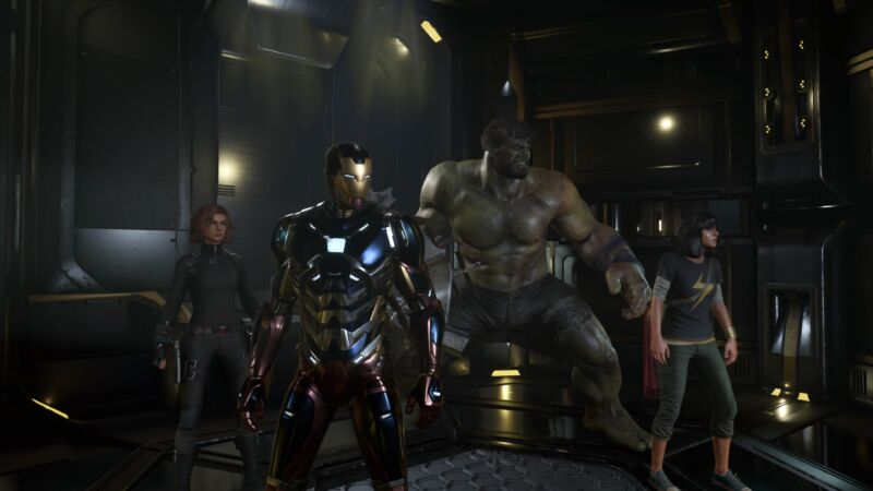 Avengers, assemble. (All images from this article were captured from real PS4 Pro gameplay, so this is how the Avengers look in their new 2020 video game.)