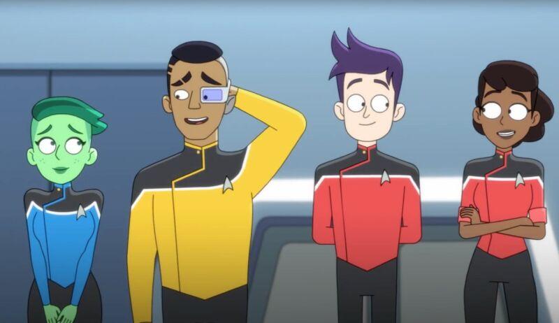 Screenshot from Star Trek: Lower Decks trailer