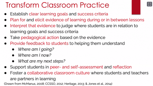 Advice from Shuchi Grover on how to embed formative assessment in classroom practice