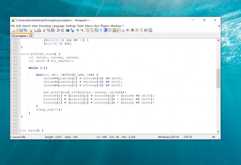 Using a text editor with programmer's features such as syntax highlighting will make the job a lot easier