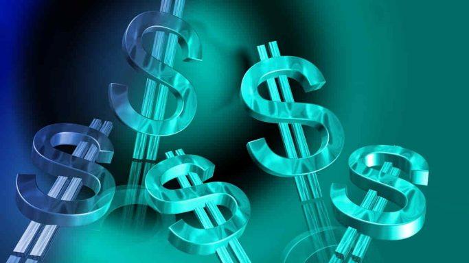 blue dollar money cash currency business finance