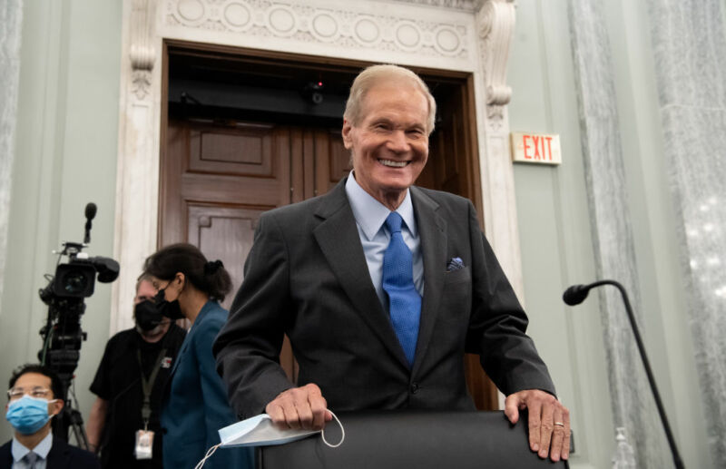 Bill Nelson, former Democratic senator from Florida, appears at his Senate confirmation hearing on Wednesday.