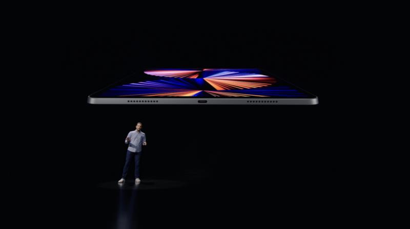Apple presents the new iPad Pro at its April 20, 2021 event.