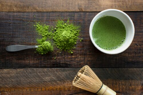 A matcha tea preparation