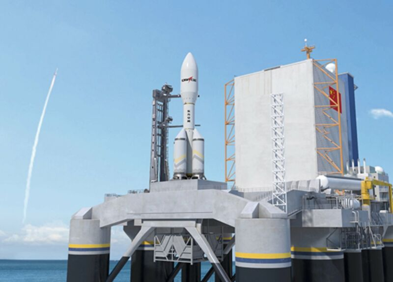 This is the rendering China's Dongfang Space released of its proposed rocket. It seems to be Kerbal-approved.