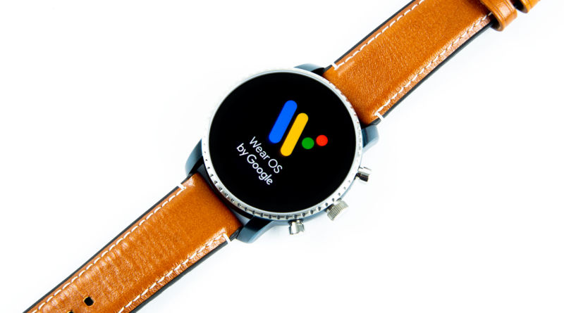 A Wear OS watch.