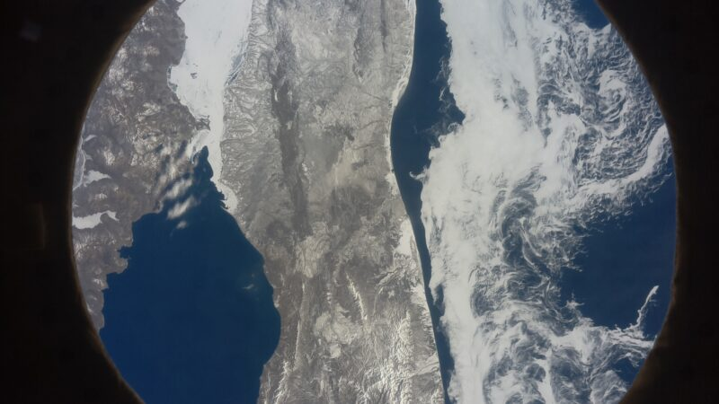 Sakhalin Oblast in Russia shown from space by an Astro Pi computer on the International Space Station