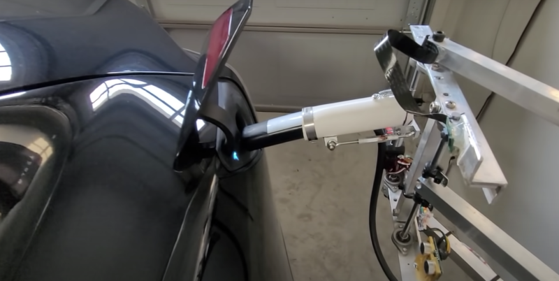 automatic tesla charger in action