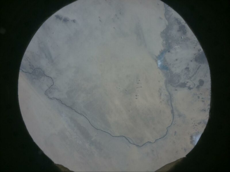 The river Nile in Sudan shown from space by an Astro Pi computer on the International Space Station