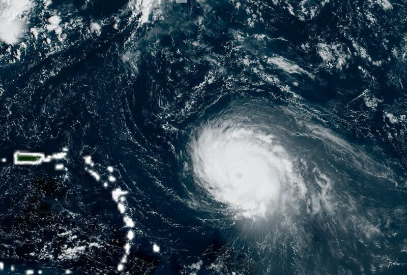 Major Hurricane Sam is, fortunately, going to avoid landmasses as it churns away.
