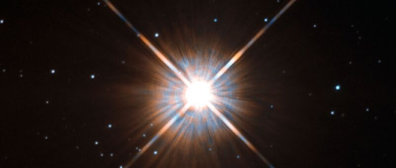 Proxima Centauri, the closest star to Earth aside from the Sun.